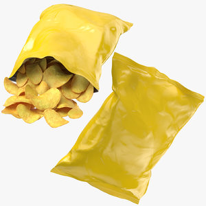 chips bags 3D