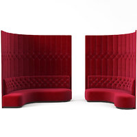 foyer tufted curved 3D model