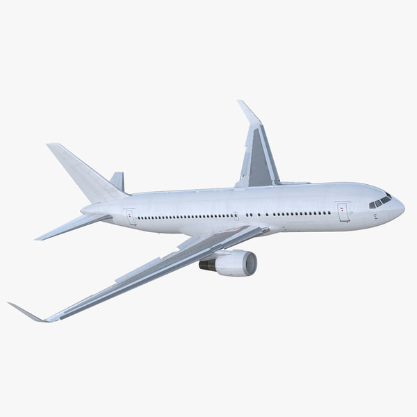 boeing 767-200er generic rigged 3D model