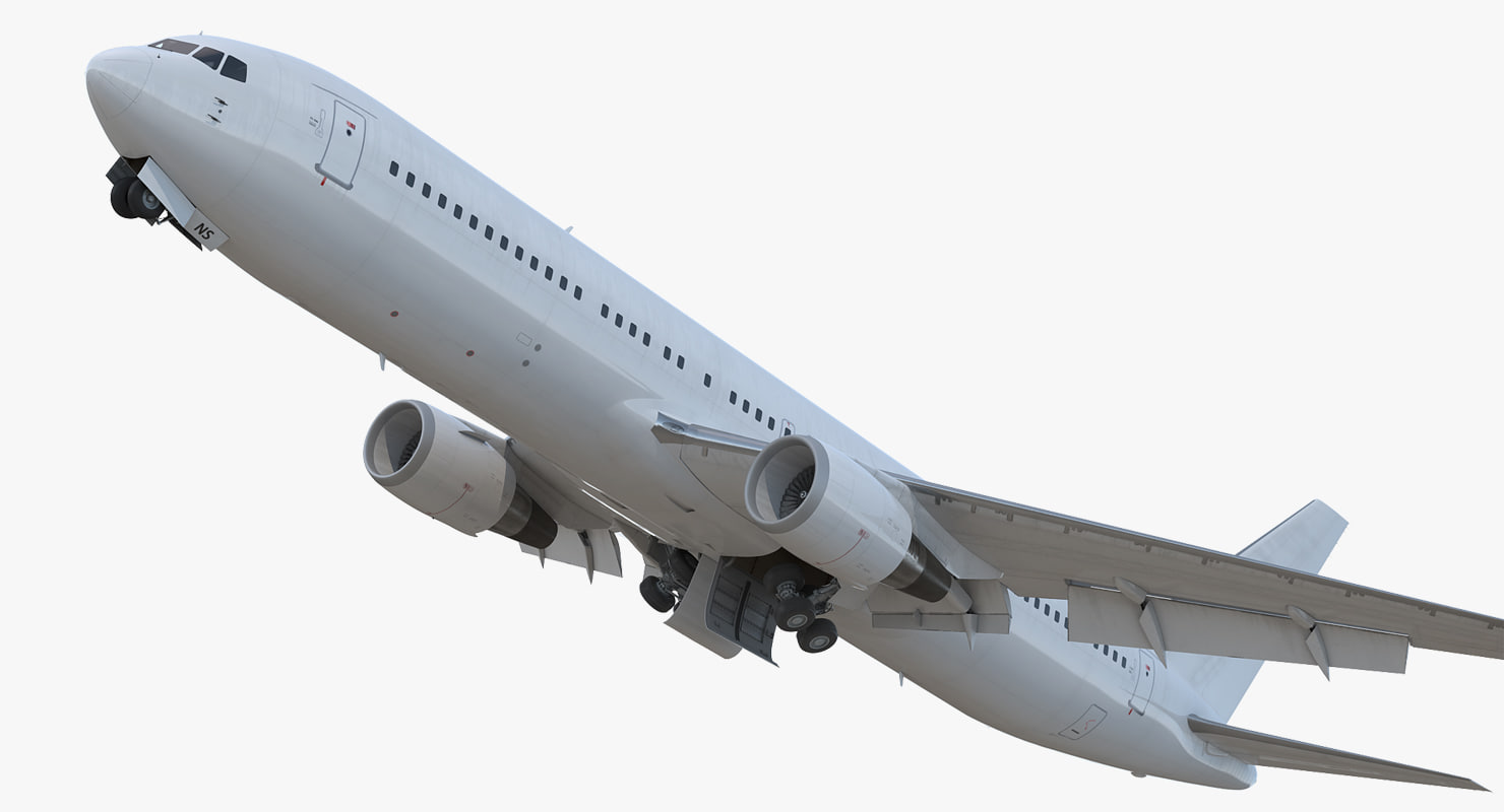 3D boeing 767-300 generic rigged model