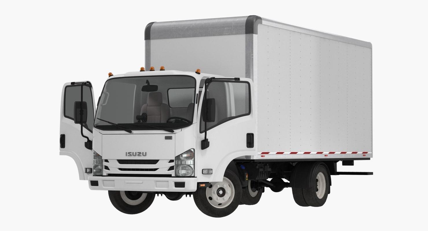 box truck isuzu npr 3D