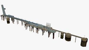 marine oil terminal 3D model