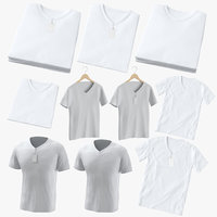male v-neck t-shirts 3D model