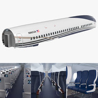 Jet Airplane Passenger Cabin