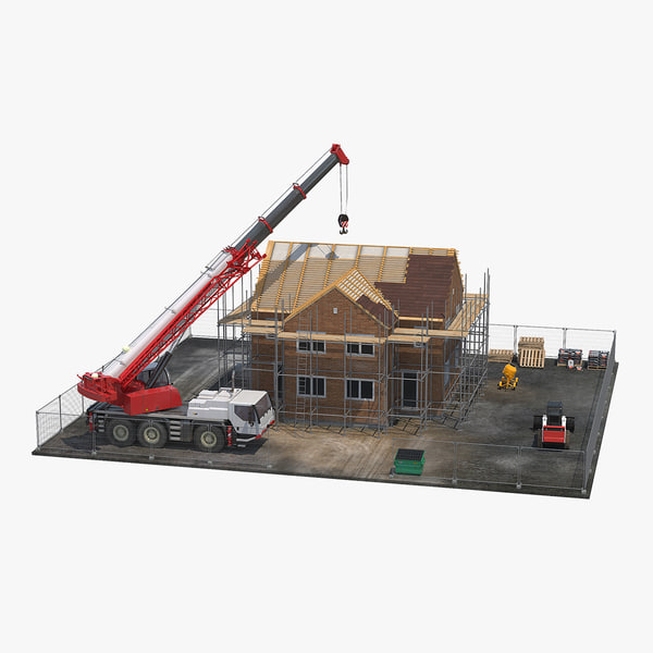 3D private house construction equipment