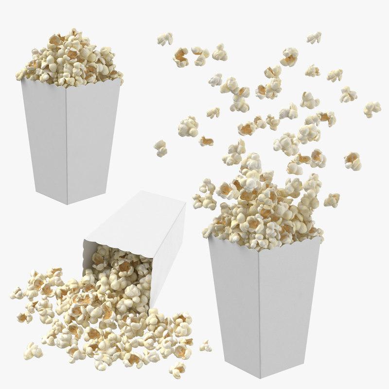 popcorn boxes 3D