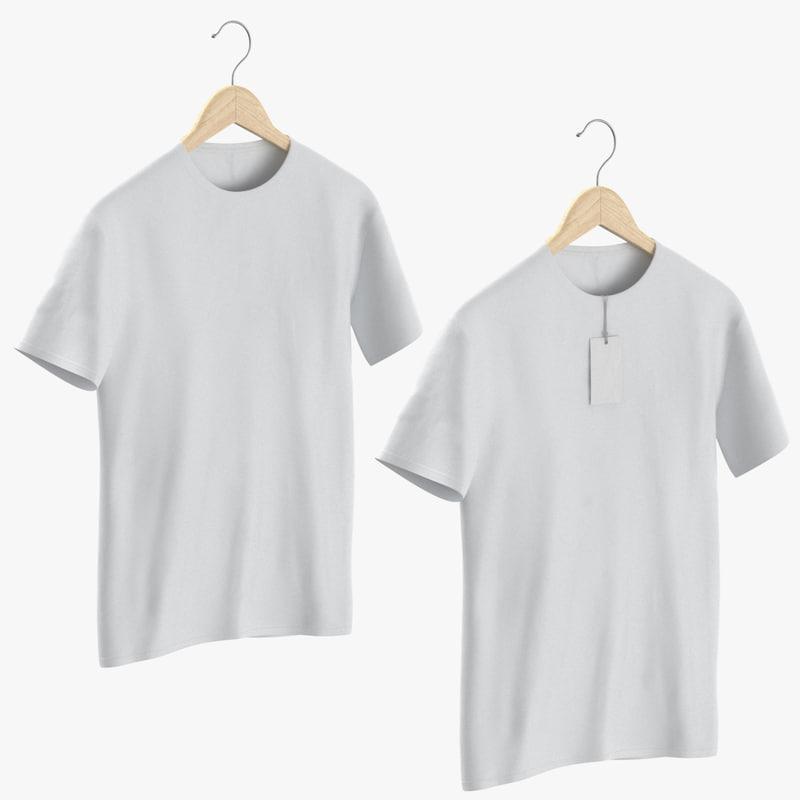 3D male crew neck t-shirt