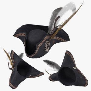 pirate hat 01 3D model
