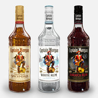 captain morgan bottle set 3D