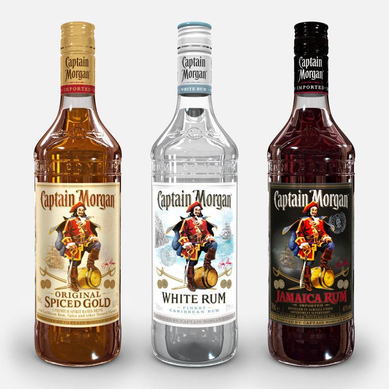 captain morgan bottle set 3D