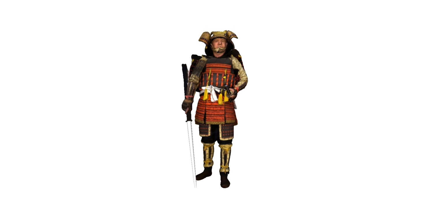 3D samura bujinkan model