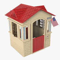 3D little tikes cape cottage