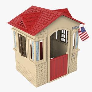 3D little tikes cape cottage