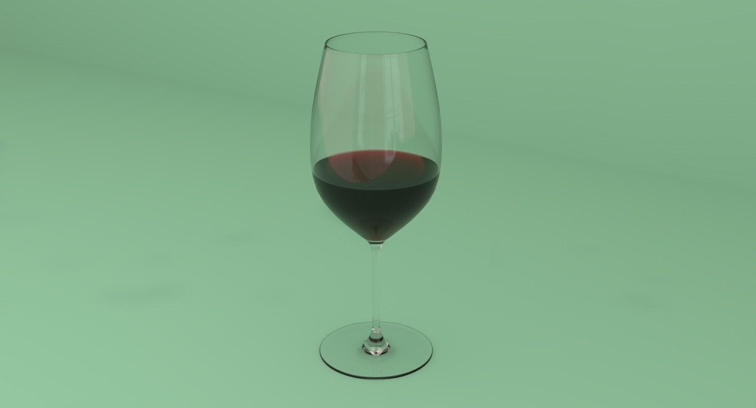 bordeaux stem red wine 3D model