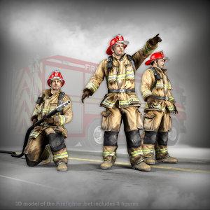3D model firefighter