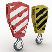 crane hook 3 3D model