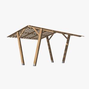 wooden canopy 3D model
