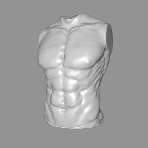 man torso 3D model
