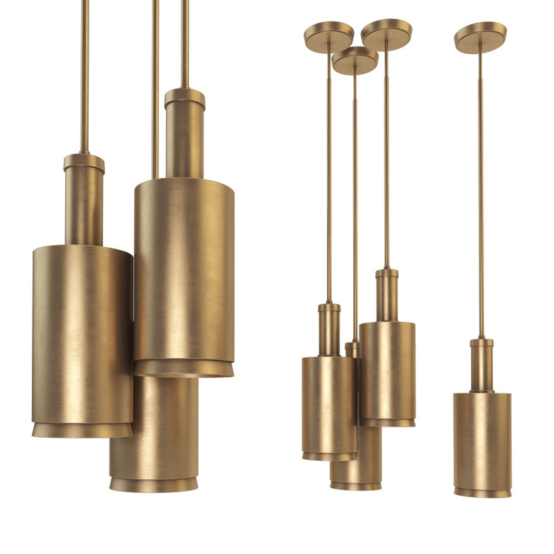 3D anders large cylindrical pendant model