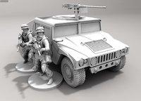 3D model humvee dlp