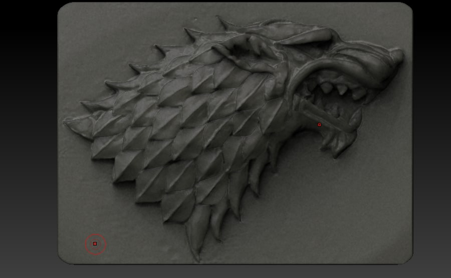 wolf winter coming thrones 3D