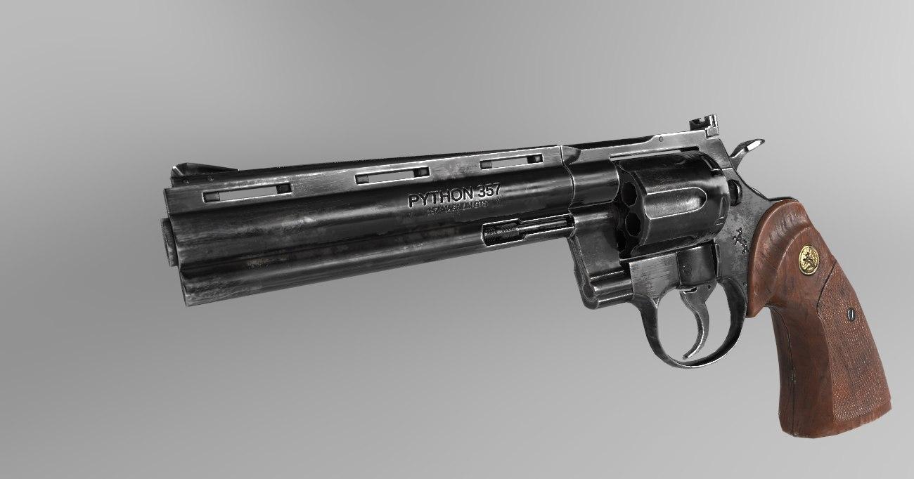 revolver optimized pbr 3D model