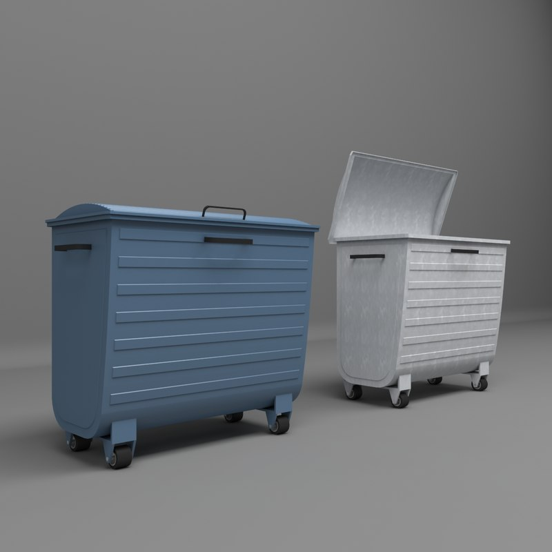 3D city garbage container