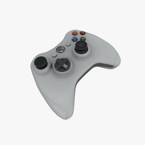 xbox controller white 3D model