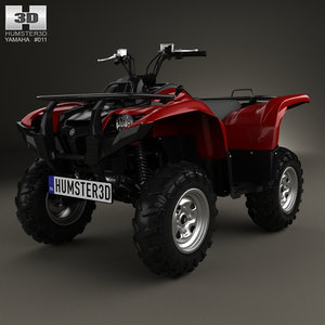 3D yamaha grizzly 700 model