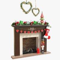 3D model cr01 fireplace 01