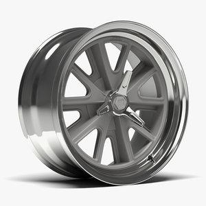 3D american racing heritage wheel model