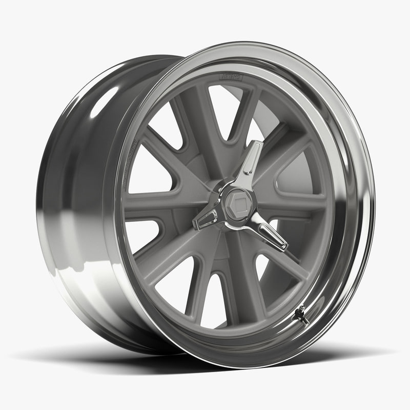 3D american racing heritage wheel model