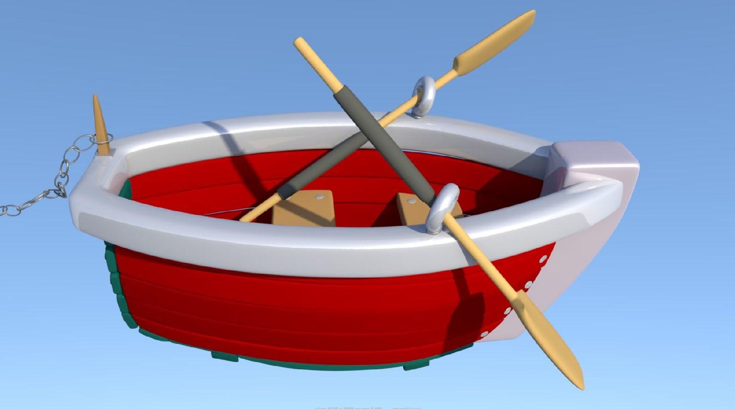 boat oars 3D model