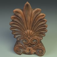 3D greek antefix model