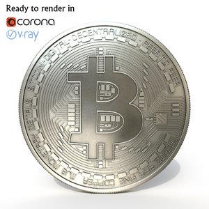 3D bitcoin coin bit