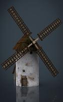 molino viento 3D
