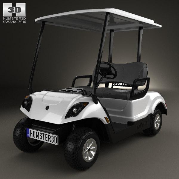 yamaha golf car 3D model