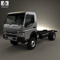 mitsubishi fuso chassis 3D model