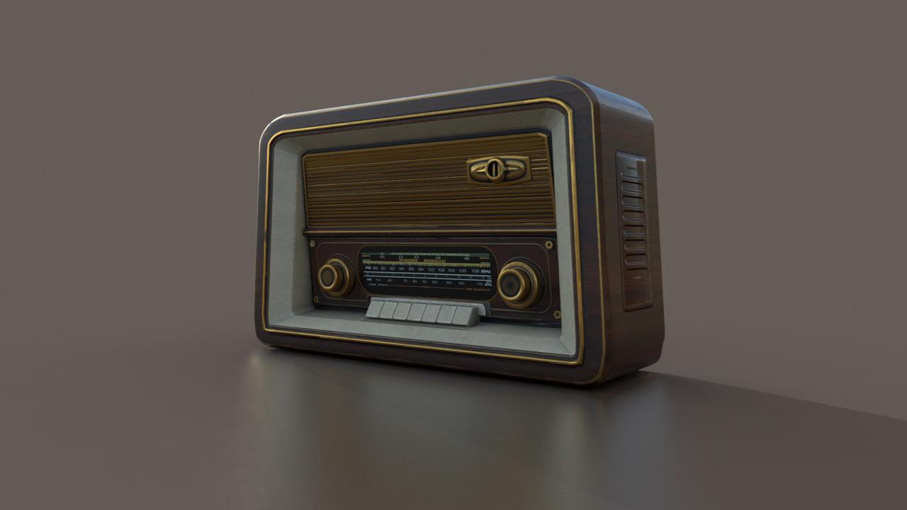 vintage radio pbr 3D