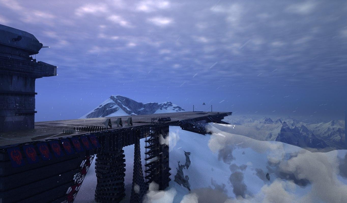 antarctic base 3D model