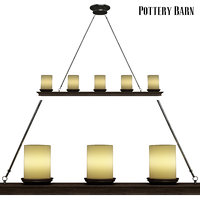 3D pottery barn veranda linear