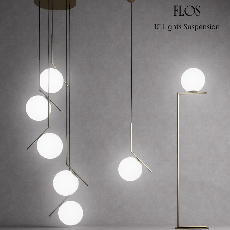 3D pendant lights model