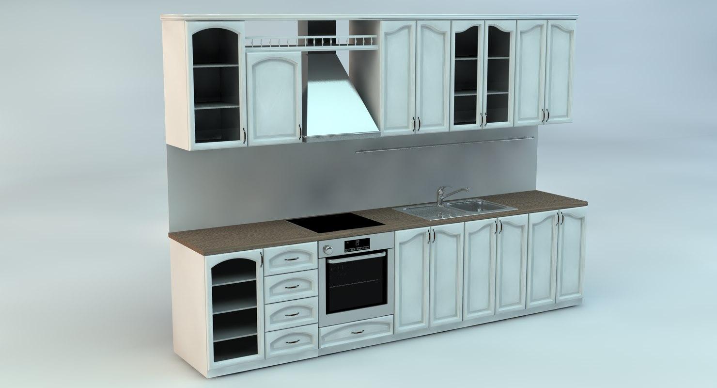 3D standard kitchen