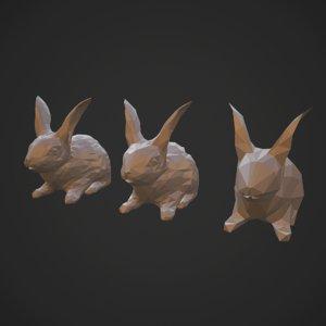 3D rabbits model