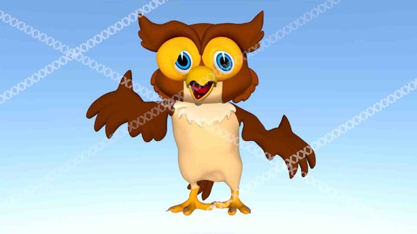 cartoon owl model