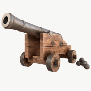 3D old cannon