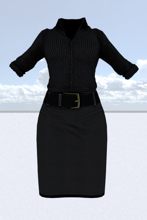 female outfit model