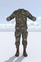 3D model soldier uniform