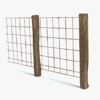 old fence 3D