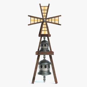steampunk windmill 3D model